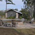Fire Pit and Garage Storage at Youngs Island