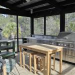 Custom Cooking Porch at Youngs Island